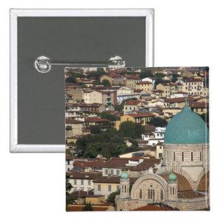 Italy, Tuscany, Florence, Tempio Maggiore Pinback Button