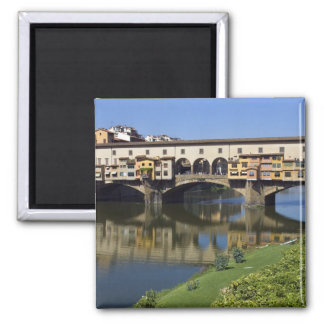 Italy, Tuscany, Florence, The Ponte Vecchio 2 2 Inch Square Magnet
