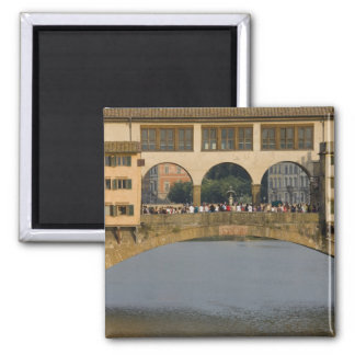 Italy, Tuscany, Florence, The Ponte Vecchio 2 Inch Square Magnet