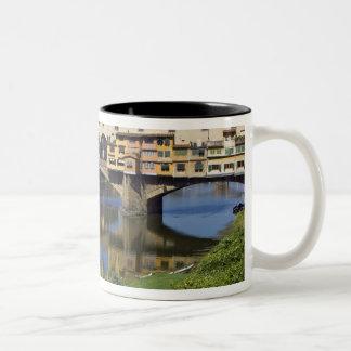 Italy, Tuscany, Florence, The Ponte Vecchio 2 Two-Tone Coffee Mug