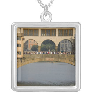 Italy, Tuscany, Florence, The Ponte Vecchio Silver Plated Necklace