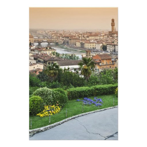 Italy, Tuscany, Florence. View of city from Photo Print