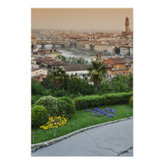 Italy, Tuscany, Florence. View of city from Poster