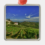 Italy, Tuscany, Greve. The vineyards of Castello Metal Ornament