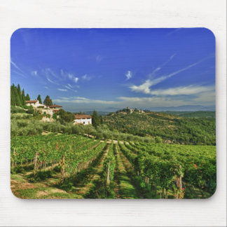 Italy, Tuscany, Greve. The vineyards of Castello Mouse Pad
