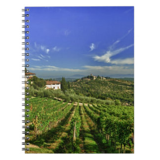 Italy, Tuscany, Greve. The vineyards of Castello Notebook