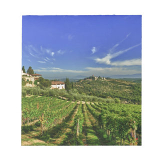 Italy, Tuscany, Greve. The vineyards of Castello Memo Pads