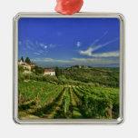 Italy, Tuscany, Greve. The vineyards of Castello Christmas Tree Ornaments
