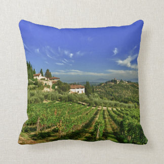 Italy, Tuscany, Greve. The vineyards of Castello Throw Pillow