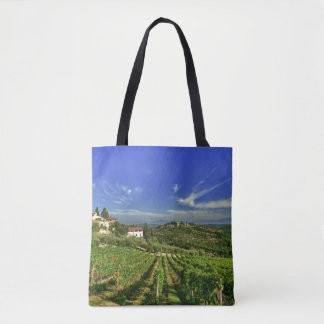 Italy, Tuscany, Greve. The vineyards of Castello Tote Bag