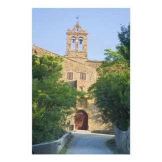 Italy, Tuscany, La Foce, Picturesque church in Photo Art