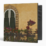 Italy, Tuscany, Lucca. Balcony decorated with 3 Ring Binder