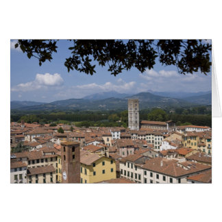 Italy, Tuscany, Lucca, View of the town and 4 Card