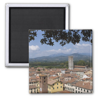 Italy, Tuscany, Lucca, View of the town and 4 Magnet