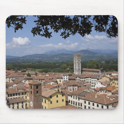 Italy, Tuscany, Lucca, View of the town and 4 Mouse Pad