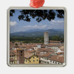 Italy, Tuscany, Lucca, View of the town and 4 Christmas Tree Ornament