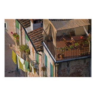 Italy, Tuscany, Lucca, View of the town and 4 Posters