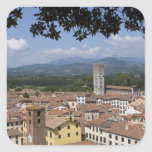 Italy, Tuscany, Lucca, View of the town and 4 Square Sticker