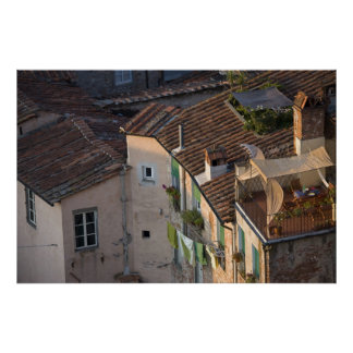Italy, Tuscany, Lucca, View of the town and 5 Print