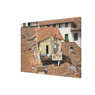 Italy, Tuscany, Lucca, View of the town and Canvas Print