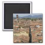 Italy, Tuscany, Lucca, View of the town and Refrigerator Magnets