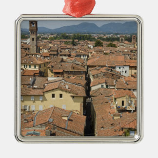 Italy, Tuscany, Lucca, View of the town and Metal Ornament