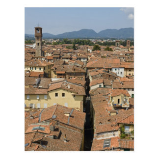Italy, Tuscany, Lucca, View of the town and Postcard