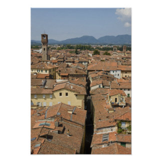 Italy, Tuscany, Lucca, View of the town and Poster