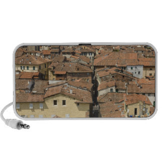 Italy, Tuscany, Lucca, View of the town and Travel Speakers
