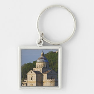 Italy, Tuscany, Montepulciano. Church of San Silver-Colored Square Keychain