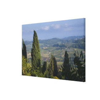 Italy, Tuscany, Montepulciano. View of the Canvas Print