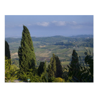 Italy, Tuscany, Montepulciano. View of the Postcard