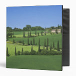 Italy, Tuscany, Multepulciano. Cypress trees Vinyl Binders