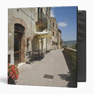 Italy, Tuscany, Pienza. Outer walkway around Binder