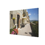 Italy, Tuscany, Pienza. Outer walkway around Gallery Wrapped Canvas