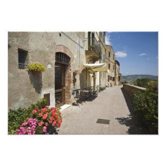 Italy, Tuscany, Pienza. Outer walkway around Photo Art