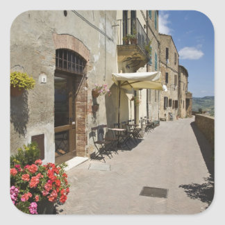 Italy, Tuscany, Pienza. Outer walkway around Square Sticker