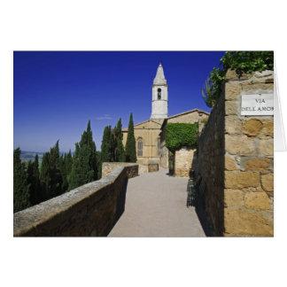 Italy, Tuscany, Pienza. Part of Via dell' Card