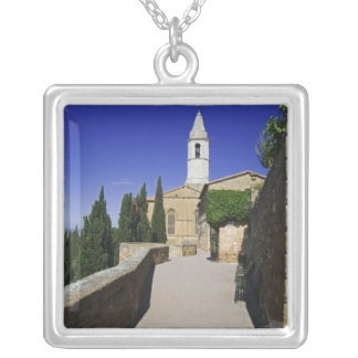 Italy, Tuscany, Pienza. Part of Via dell' Silver Plated Necklace