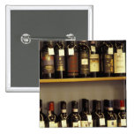 Italy, Tuscany, Pienza Wine display in shop Pinback Button