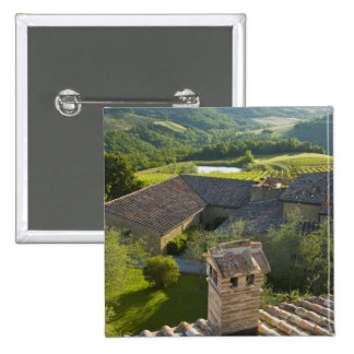 Italy, Tuscany. Roofop view of the villa Pinback Button