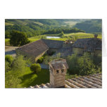Italy, Tuscany. Roofop view of the villa Greeting Cards