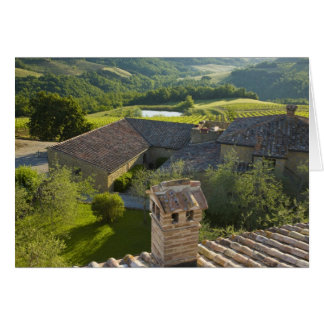 Italy, Tuscany. Roofop view of the villa Card