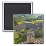 Italy, Tuscany. Roofop view of the villa Magnets