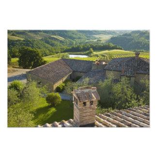 Italy, Tuscany. Roofop view of the villa Photo Art