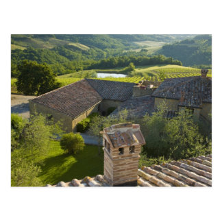 Italy, Tuscany. Roofop view of the villa Postcard