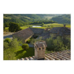 Italy, Tuscany. Roofop view of the villa Print