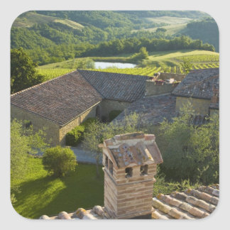 Italy, Tuscany. Roofop view of the villa Square Sticker
