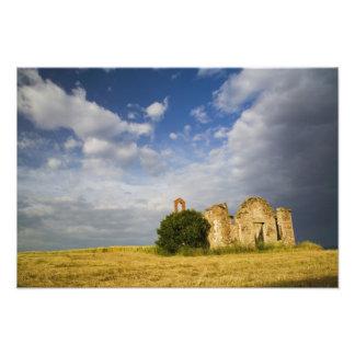 Italy, Tuscany, Ruin of Old Church in Tuscany. Photo Print