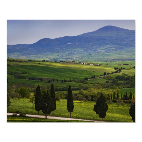 Italy, Tuscany. Scenic of the Tuscan Poster